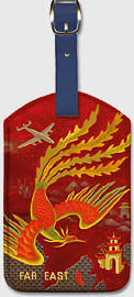 Far East - Leatherette Luggage Tags