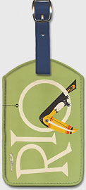 Braniff Air Rio - Leatherette Luggage Tags