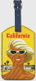 Southern California via United Airlines - Leatherette Luggage Tags