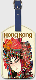 Hong Kong - Geisha - Leatherette Luggage Tags