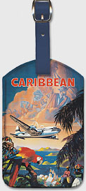 Pan American: Fly to the Caribbean by Clipper - Leatherette Luggage Tags
