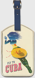Pan Am Fly to Cuba - Holiday Isles of the Tropic - Leatherette Luggage Tags