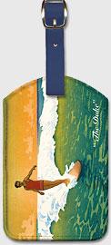 The Duke, Hawaiian Duke Kahanamoku Surfing - Hawaiian Leatherette Luggage Tags