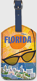 Florida TWA - Sunglasses - Leatherette Luggage Tags