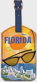 Florida TWA - Sunglasses - Leatherette Luggage Tags