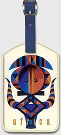Africa - African Tribal Motif - Leatherette Luggage Tags