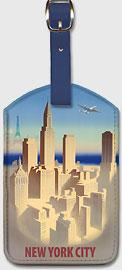 New York City Skyline - Leatherette Luggage Tags