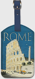 Rome, Italy - The Colosseum, Flavian Amphitheatre - BEA (British European Airways) - Leatherette Luggage Tags