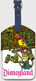 Disneyland - Jose The Macaw - Leatherette Luggage Tags