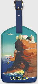Corsica (Corse) - Bonifacio, France - Leatherette Luggage Tags