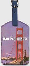 San Francisco - Golden Gate Bridge - Leatherette Luggage Tags