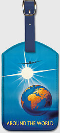 Around the World - Leatherette Luggage Tags