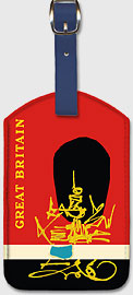 Great Britain - Queen's Guard - Leatherette Luggage Tags