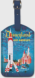 Trans World Airlines - Fly TWA Los Angeles - Disneyland Tomorrowland TWA Moonliner - Leatherette Luggage Tags