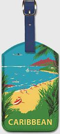 Caribbean - Leatherette Luggage Tags