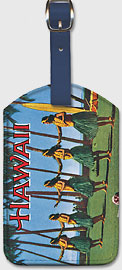 Hula Girls - Hawaiian Leatherette Luggage Tags