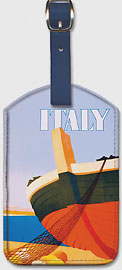 Summer in Italy - Bow of a Italian Fishing boat - Leatherette Luggage Tags