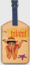 Miami Florida - Leatherette Luggage Tags