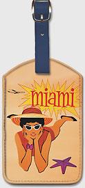 Miami Florida - Leatherette Luggage Tags
