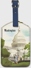 Washington, D.C. - Chesapeake & Ohio Railway - United States Capitol Building - Leatherette Luggage Tags