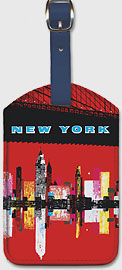 New York, USA Aer Lingus Irish Air Lines - Manhattan Skyline - Leatherette Luggage Tags