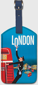 Pan Am London - Leatherette Luggage Tags