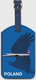 Crane in Flight - Polish Airlines LOT - Leatherette Luggage Tags