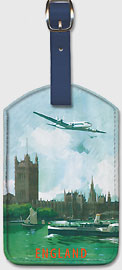 Angleterre (England) - River Thames London - Aviation - Leatherette Luggage Tags