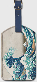 The Great Wave off Kanagawa - Mount Fuji, Japan - Leatherette Luggage Tags
