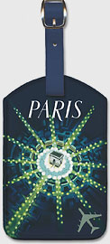 Paris - Arc de Triomphe (Arch of Triumph) - Leatherette Luggage Tags
