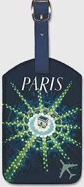 Paris - Arc de Triomphe (Arch of Triumph) - Leatherette Luggage Tags