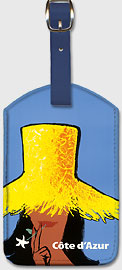 Côte d'Azur - French Coast - Leatherette Luggage Tags