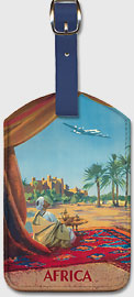 Africa - Saharan Desert - Leatherette Luggage Tags