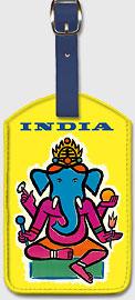 India - Hindu Lord Ganesha (Ganesh) - Leatherette Luggage Tags