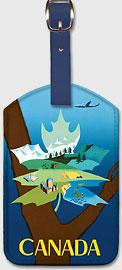 Canada - Maple Leaf Landscape - Leatherette Luggage Tags