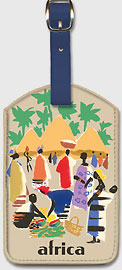 Africa - African Village - Leatherette Luggage Tags