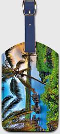 Where da Coconuts Grow, Hawaii - Hawaiian Leatherette Luggage Tags