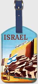 Israel - Walls of Jerusalem - Leatherette Luggage Tags