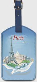 Paris - Air France - Eiffel Tower - Leatherette Luggage Tags