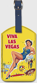 Viva Las Vegas (Meet Me in Las Vegas) - starring Dan Dailey, Cyd Charisse - Leatherette Luggage Tags