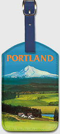 Portland, Oregon - Mount Hood - Leatherette Luggage Tags