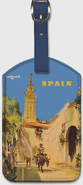 Fly to Spain - by BOAC (British Overseas Airways Corporation) - Leatherette Luggage Tags