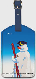 Sabena Brings You to The Winter Sports - Sabena Belgian World Airlines - Leatherette Luggage Tags