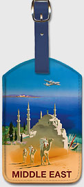 Middle East - Tuareg Camel Riding Nomads - Leatherette Luggage Tags