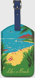 Life's a Beach - Leatherette Luggage Tags