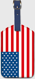 USA Flag - Leatherette Luggage Tags