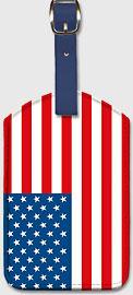 USA Flag - Leatherette Luggage Tags