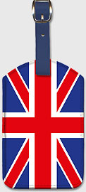 UK Flag - Leatherette Luggage Tags
