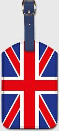 UK Flag - Leatherette Luggage Tags