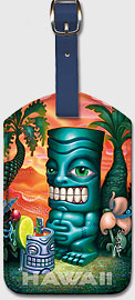 Diga Diga Doo - Hawaiian Leatherette Luggage Tags